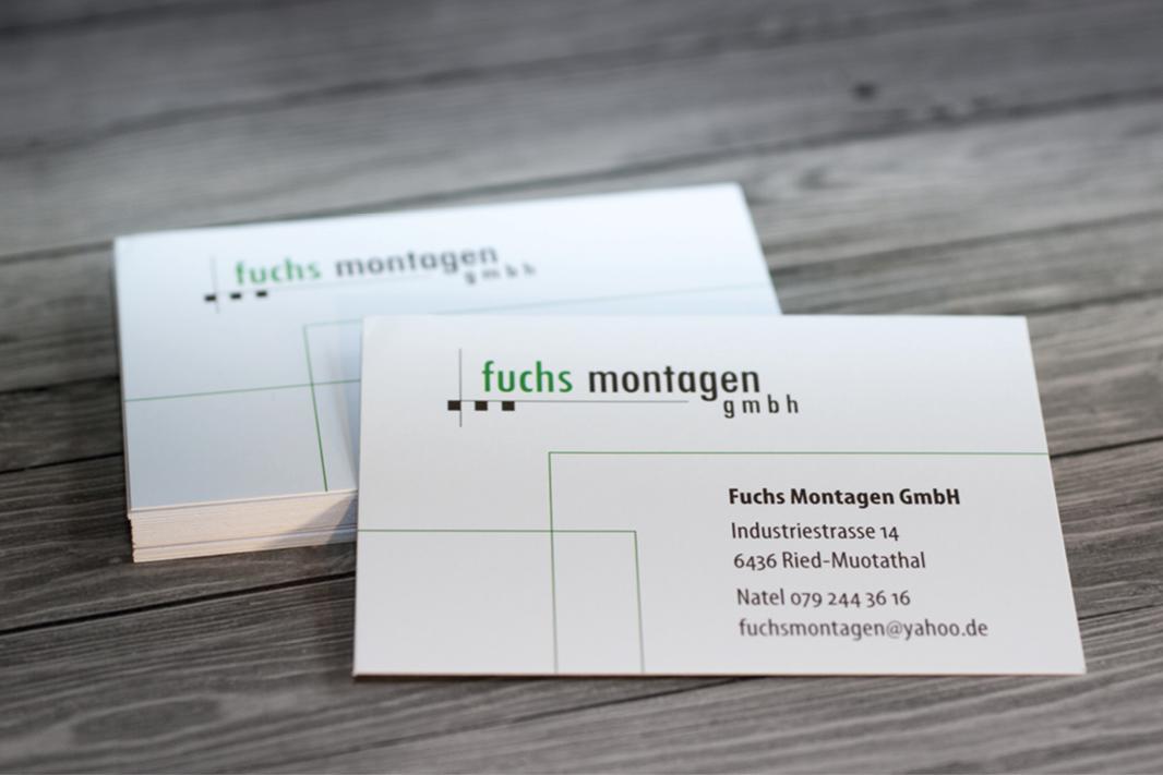 Visitenkarte Fuchs Montagen GmbH