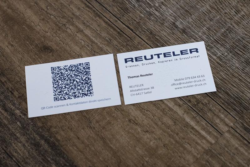Visitenkarte Reuteler