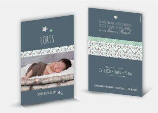 Geburtskarte Loris
