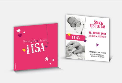 Geburtsanzeige Lisa