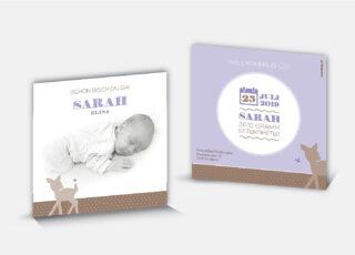 Geburtskarte Sarah
