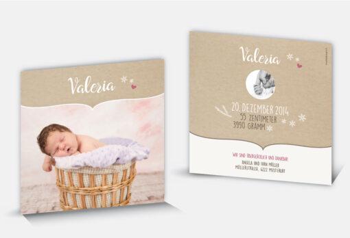 Geburtsanzeige Valeria
