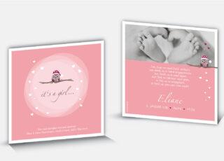 Geburtskarte Eliane