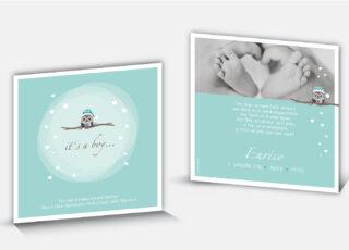 Geburtskarte Enrico