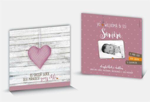 Geburtskarte Samira