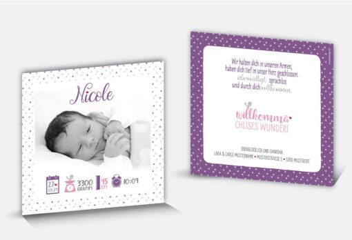 Geburtskarte Nicole