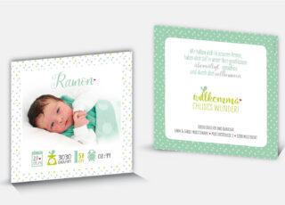 Geburtskarte Ramon