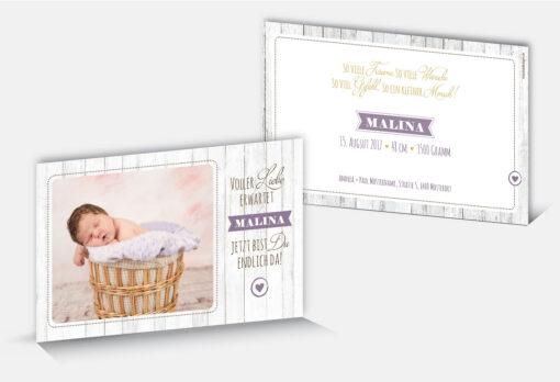 Geburtskarte Malina