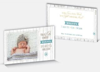 Geburtskarte Melvin