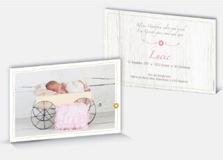 Geburtskarte Lucie