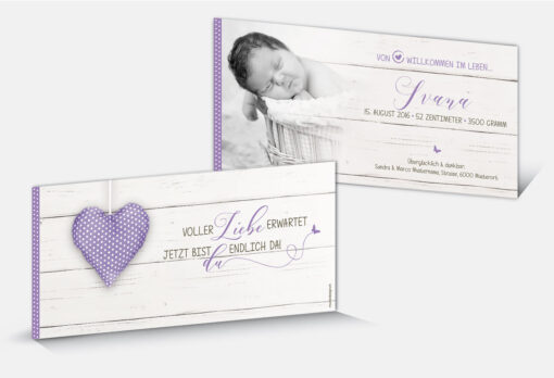 Geburtskarte Ivana