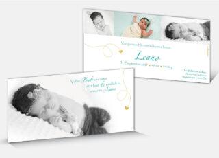 Geburtskarte Leano