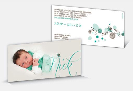 Geburtskarte Nick