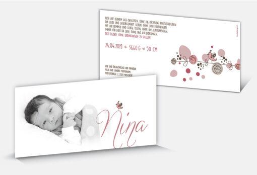 Geburtskarte Nina