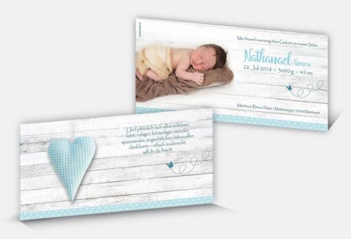 Geburtskarte Nathanael