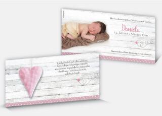 Geburtskarte Daniela