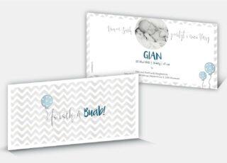 Geburtskarte Gian