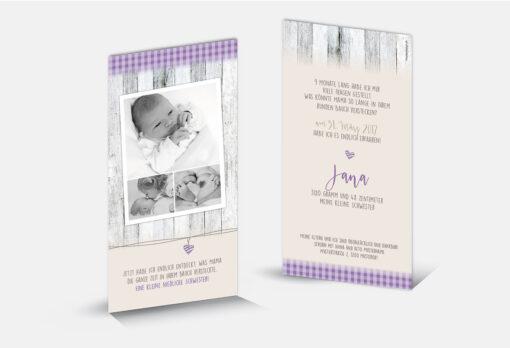 Geburtskarte Jana