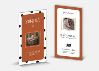 Geburtskarte Romina