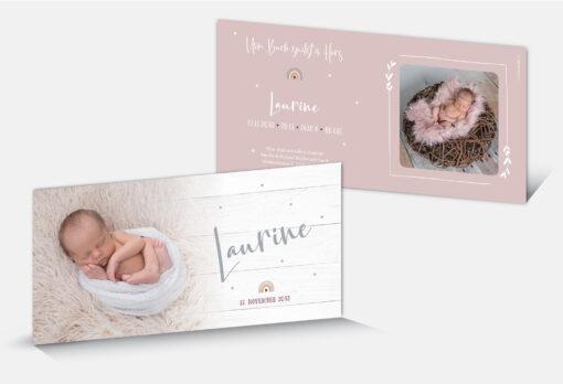 Geburtskarte Laurine