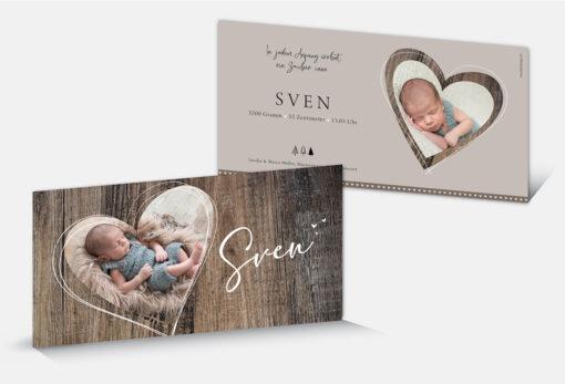 Geburtskarte Sven