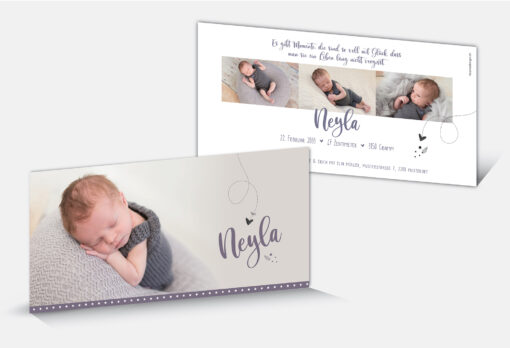 Geburtskarte Neyla