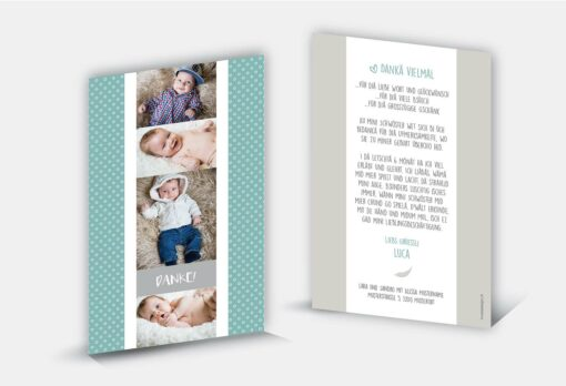 Geburtsdankeskarte Luca
