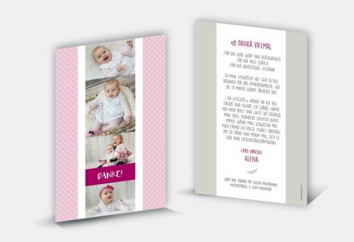 Geburtsdankeskarte Alena