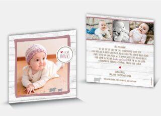 Dankeskarte Geburt Xenia