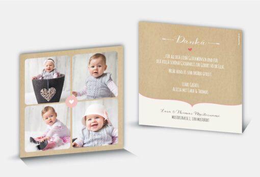 Geburtsdankeskarte Alicia