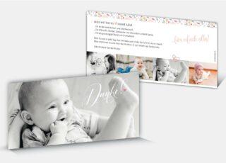 Geburtsdankeskarte Fabia