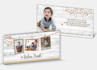 Geburtsdankeskarte Levin
