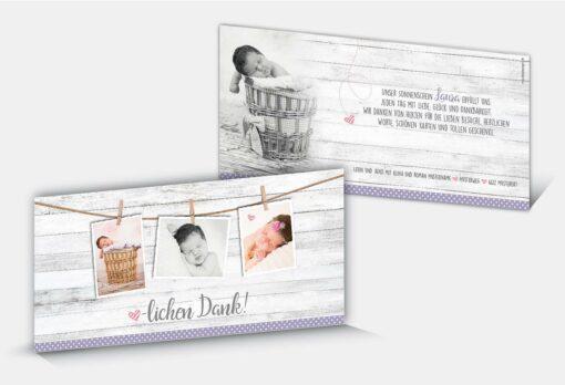 Geburtsdankeskarte Laura