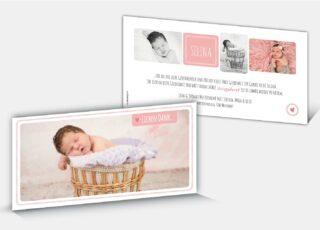Geburtsdankeskarte Selina