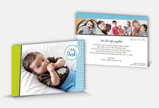 Geburtsdankeskarte Joel