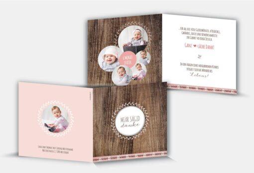 Geburtsdankeskarte Jessica