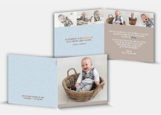 Dankeskarte Geburt Jonas
