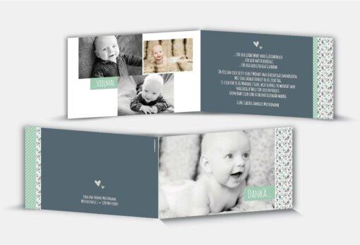 Geburtsdankeskarte Kilian