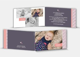 Geburtsdankeskarte Vivien