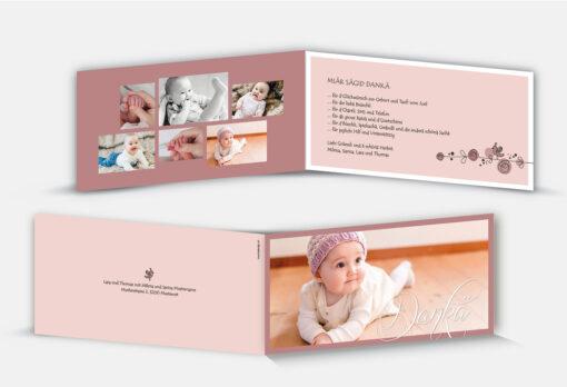 Dankeskarte Geburt Milena