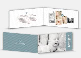 Geburtsdankeskarte Milio