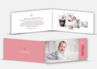 Geburtsdankeskarte Amira