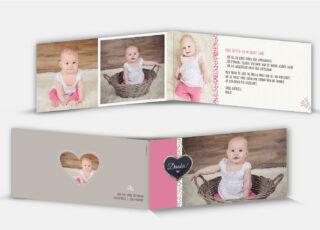 Geburtsdankeskarte Paula