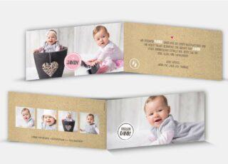 Geburtsdankeskarte Janin