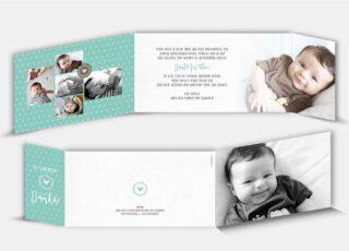 Geburtsdankeskarte Nicolas