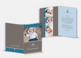 Geburtsdankeskarte Linus
