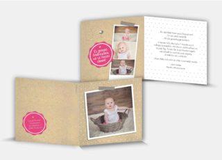 Geburtsdankeskarte Jasmin