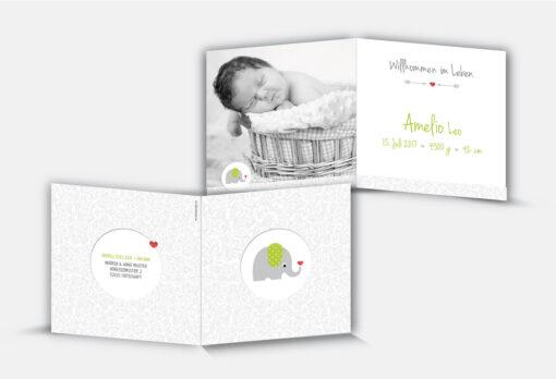 Geburtskarte Amelio