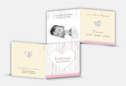 Geburtskarte Livia