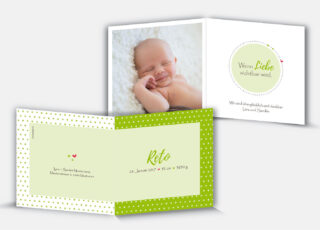 Geburtskarte Reto